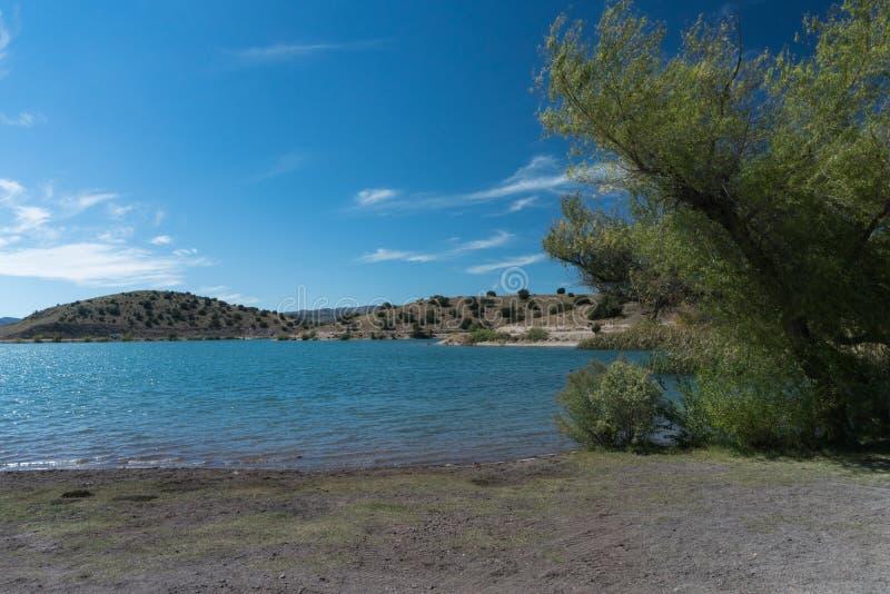 Bill Evans Lake Shoreline View lizenzfreie stockfotografie