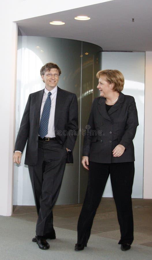 Download Bill Gates, Angela Merkel editorial stock image. Image of bill - 18801614