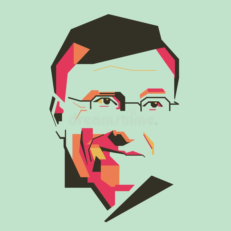 Free Bill Gates Simple Colour Illustration /eps Royalty Free Stock Images - 118518379