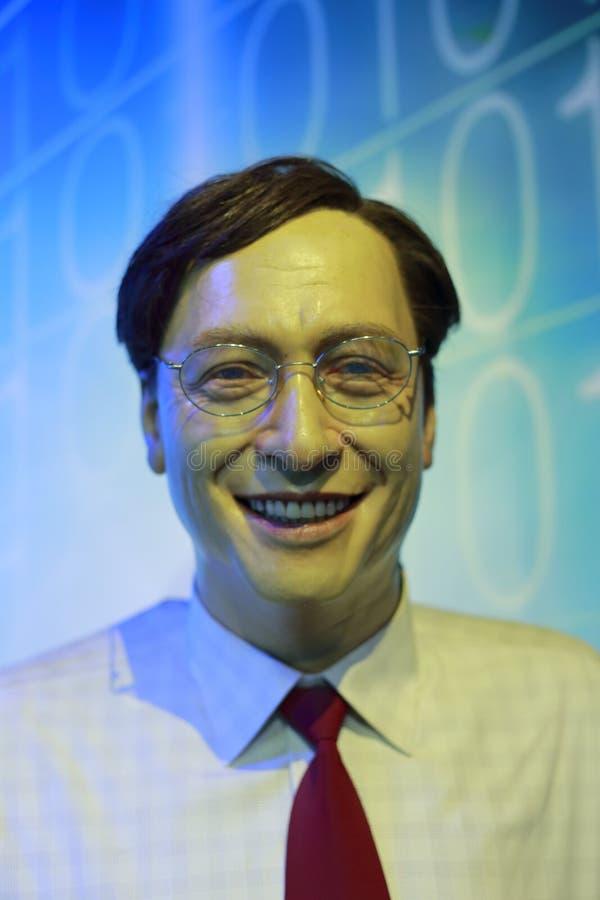 Bill Gates Wachsfigur stockfotografie