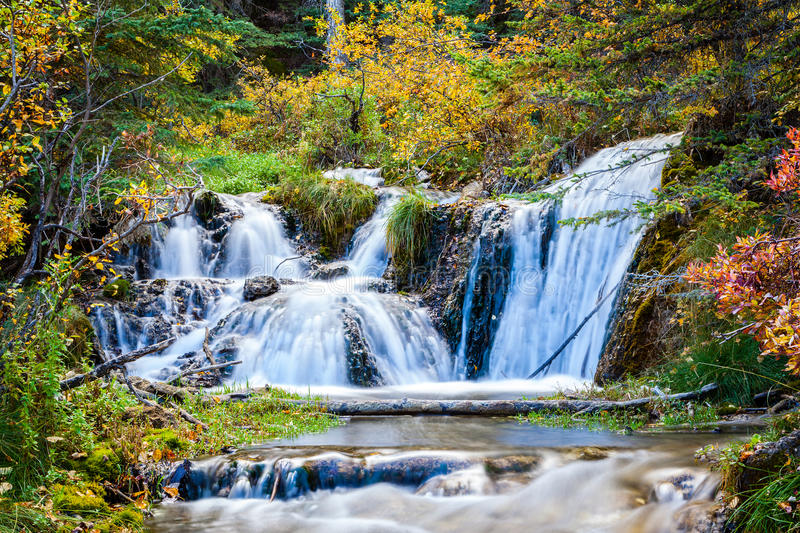 Bill Hill Springs Provincial Park, Alberta, Canada. Cascading stream at Big Hill Springs Provincial Park near Calgary in Alberta. A favorite park for hiking and stock photography