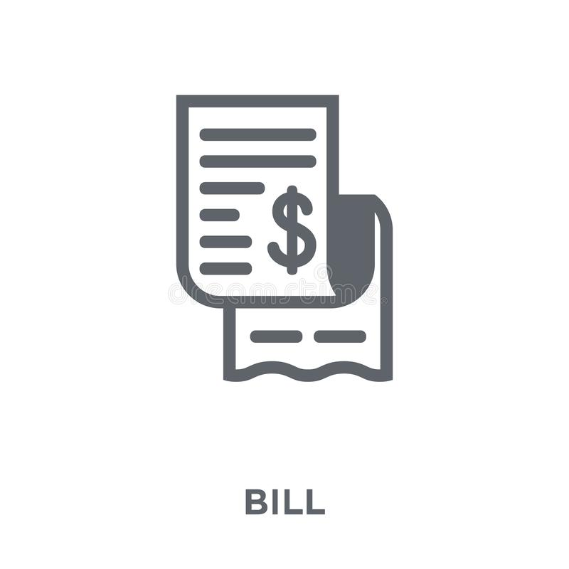 Bill icon from Delivery and logistic collection. royalty free illustration