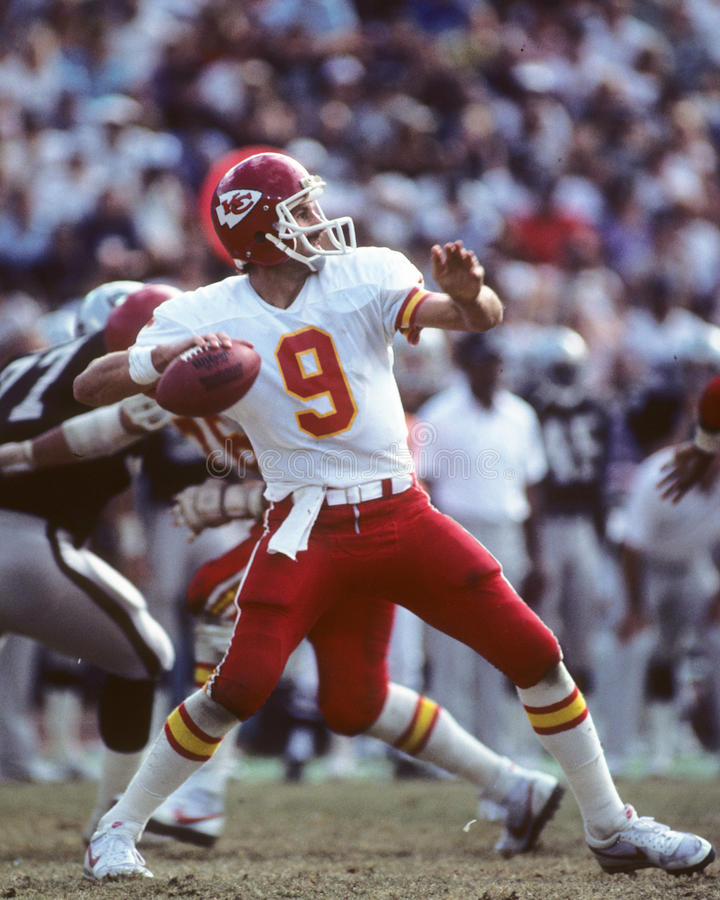 Bill Kenney. Kansas City Chiefs QB Bill Kenney. Images taken from color slide stock image