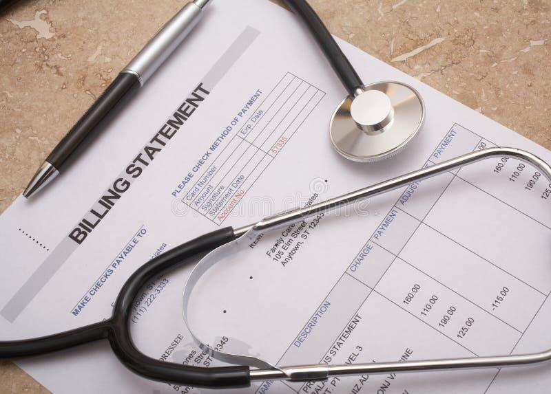 Bill médical photo libre de droits