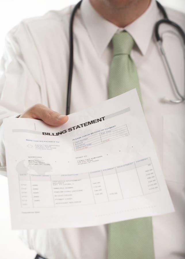 Bill médical image libre de droits