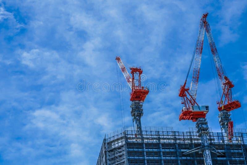 Bill and Minato Mirai townscape under construction. Shooting location :  Yokohama-city kanagawa prefecture stock image