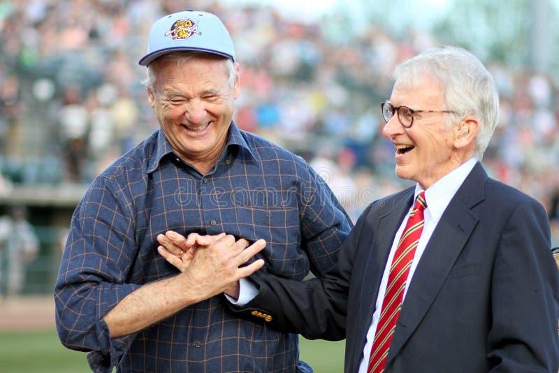 Bill Murray et maire Joseph P Riley, JR images stock