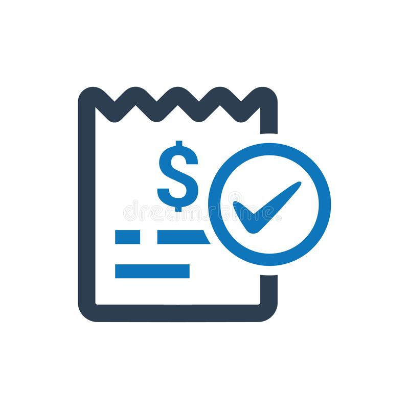 Bill Paid Icon. Beautiful, Meticulously Designed Bill Paid Icon stock illustration