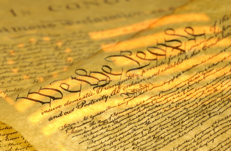Bill of Rights stock photos