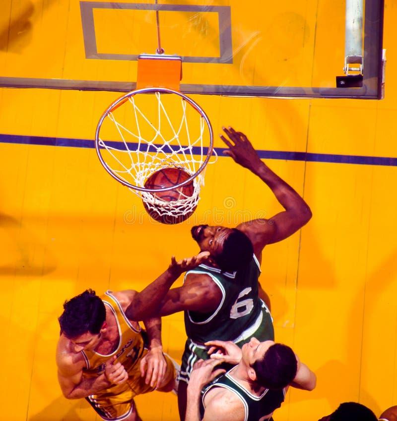 Bill Russell y John Havlicek, Celtics de Boston fotos de archivo libres de regalías