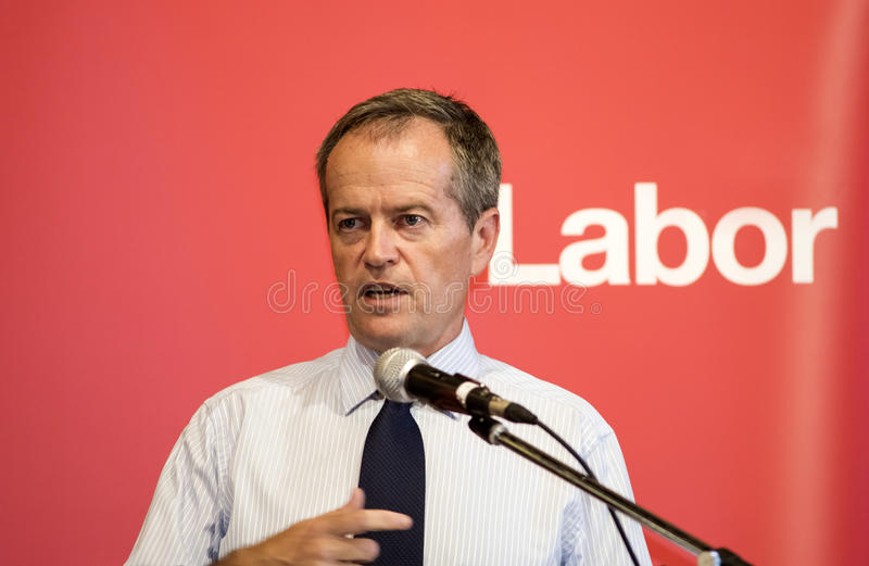 Bill Shorten, Australian political leader. Bill Shorten is the current Leader of the Opposition for the Australian Labor Party and Leader of the Australian Labor stock image