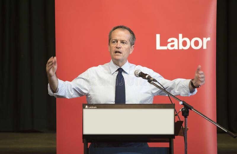 Bill Shorten, capo australiano del partito laburista fotografie stock