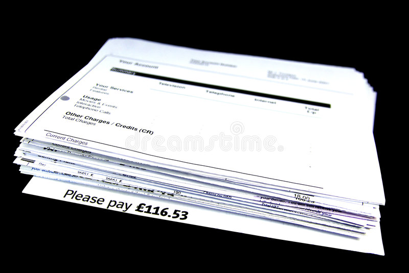 Download Bill stack 2 stock image. Image of account, expense, background - 7192327