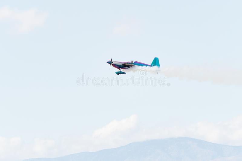 Bill Stein is flying an a Zivko Edge 540 royalty free stock photo