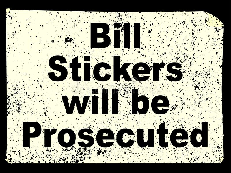 Bill Stickers stock illustratie
