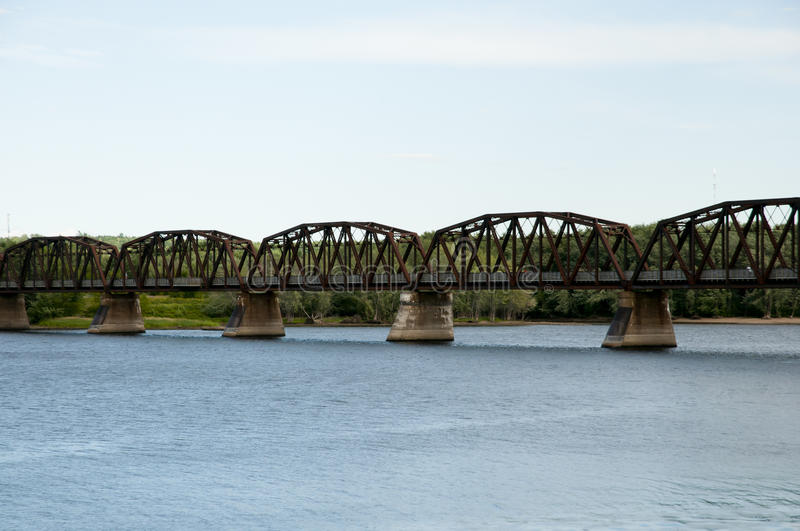 Bill Thorpe Walking Bridge - Fredericton - il Canada fotografie stock