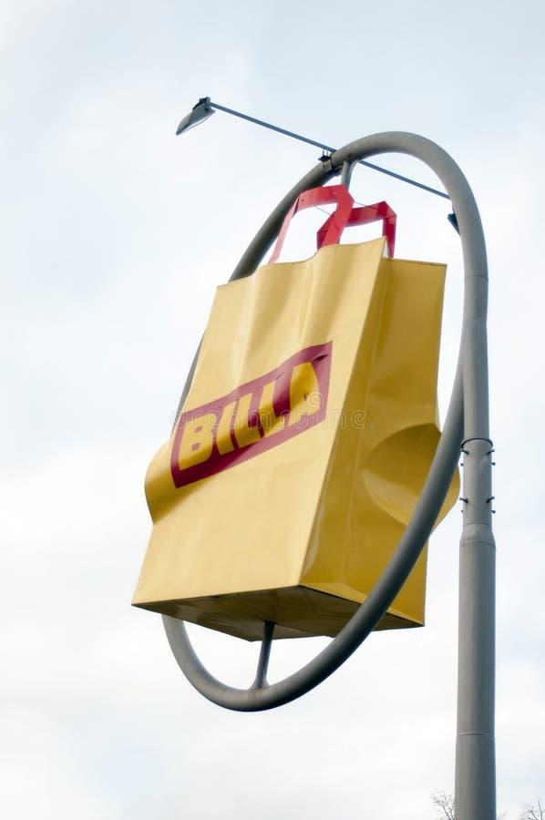 Billa shopping bag royalty free stock photo
