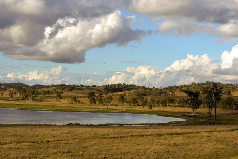 Billabong See in Queensland lizenzfreie stockbilder