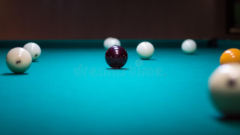 Billar-bola: muchas bolas foto de archivo