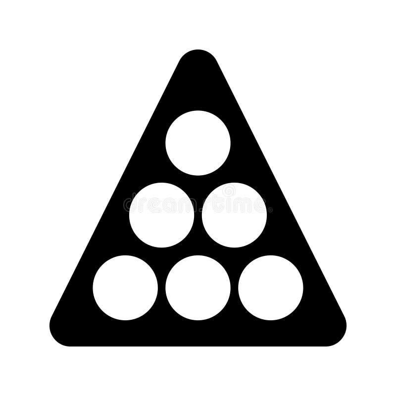 Billard Glyph-Vektorikone lizenzfreie abbildung