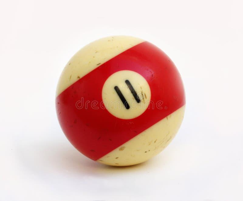 Billard piłka liczba jedenaście zdjęcia royalty free