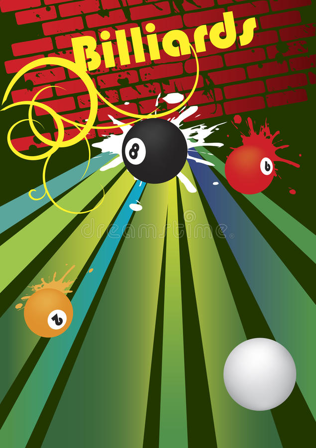 billards illustration de vecteur