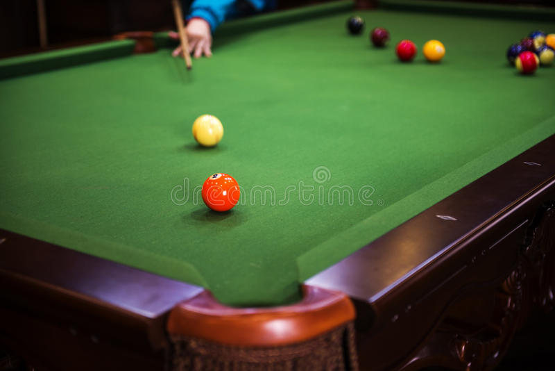 Billards de carambolage photo stock