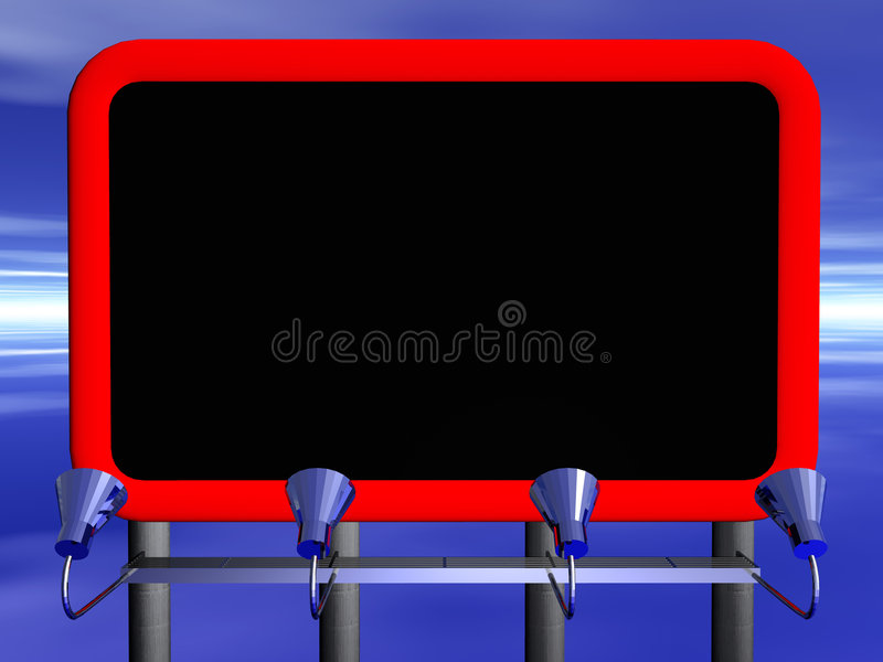 billboard ilustracja wektor