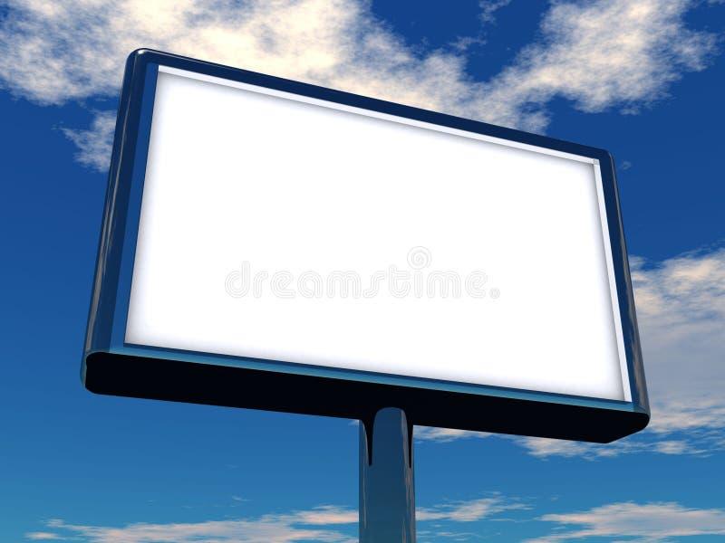 Billboard. 3d rendering illustration of a billboard vector illustration