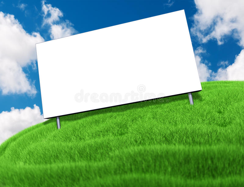 Download Billboard stock illustration. Image of large, grass, clear - 26574528