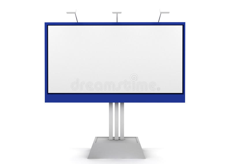 Billboard 3D Rendered Isolated On White Stock Photo