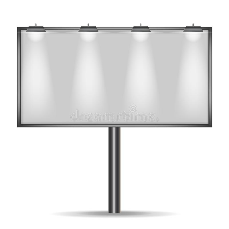 Billboard for advertising. vector royalty free stock image
