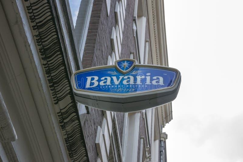 Billboard Bavaria at Amsterdam Niederlande 2019 lizenzfreie stockfotografie