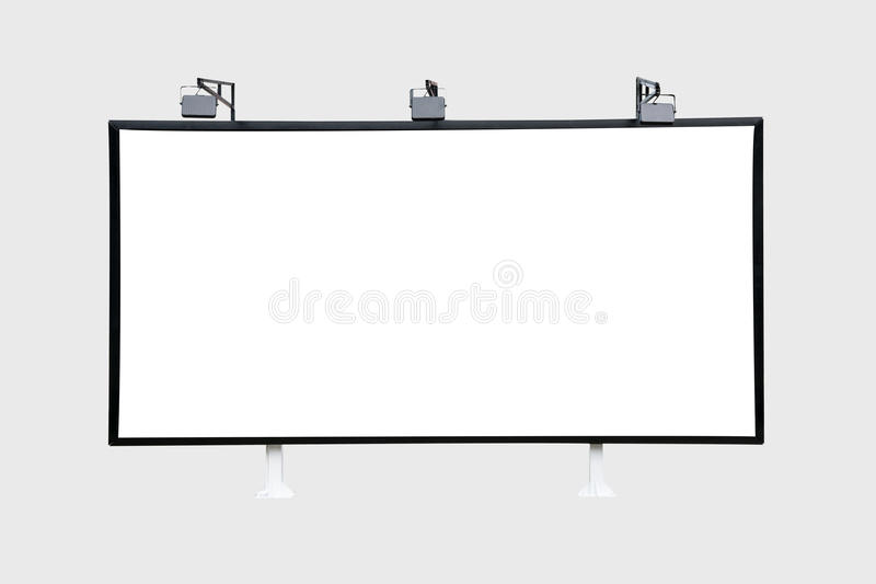 Billboard black for outdoor advertising poster. Trade show booth. isolated on white background stock illustration