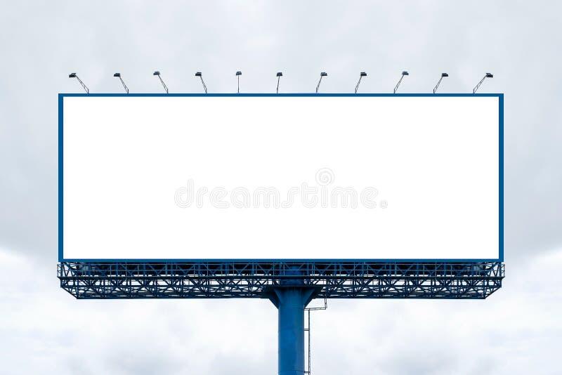 Billboard blank for outdoor advertising poster, Concept of public relations communication stock afbeeldingen