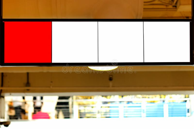 Billboard blank for outdoor advertising poster at Department store stock photos