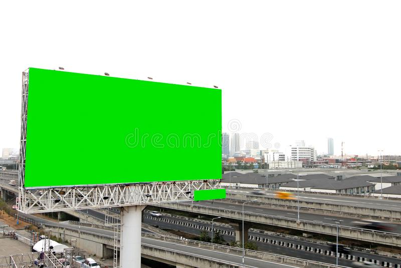 Billboard blank for outdoor advertising poster royalty free stock photography