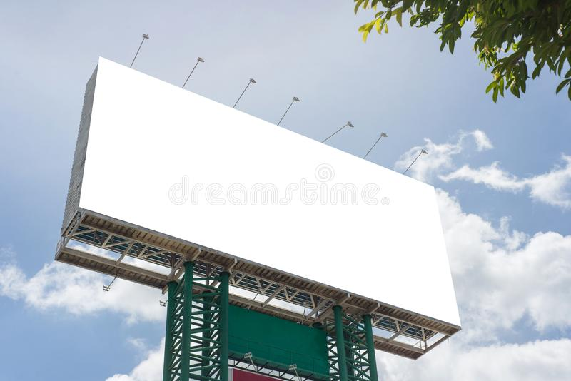 Billboard blank on road in city for advertising background stock photography