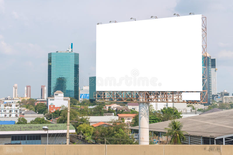 billboard blank on road in city for advertising background royalty free stock photo