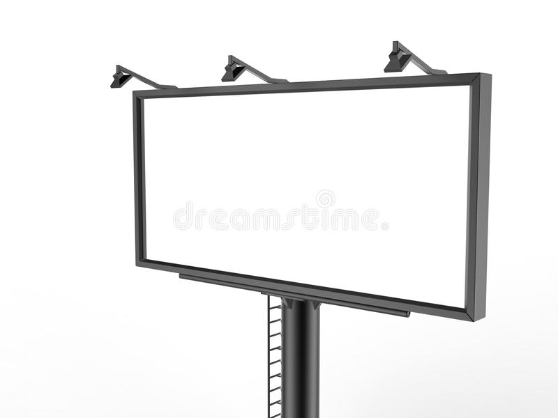 Billboard blank white for outdoor advertising poster or blank billboard advertisement mock up template . Billboard blank white for outdoor advertising poster or royalty free illustration