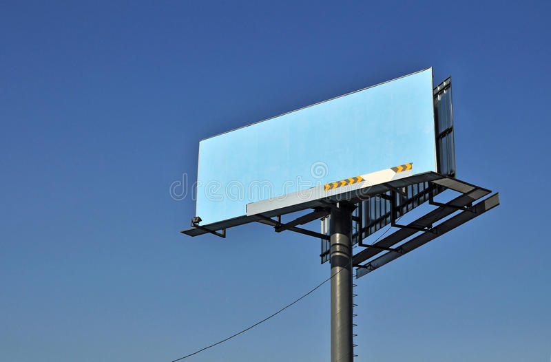 Download Billboard on blue sky stock image. Image of space, blue - 24317253