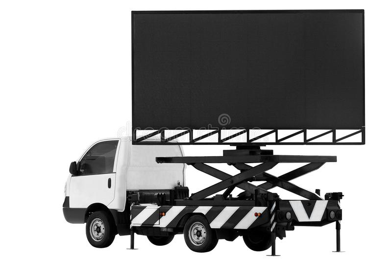Billboard on car LED panel for sign Advertising isolated on background white stock photos