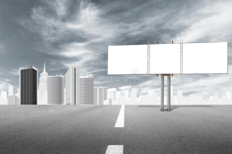 Download Billboard and city stock illustration. Image of modern - 21438300