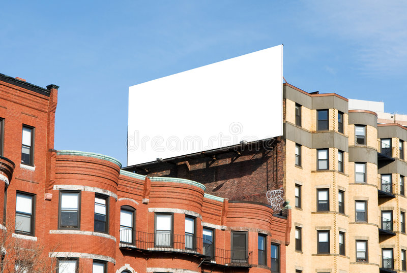 Billboard in the city stock images