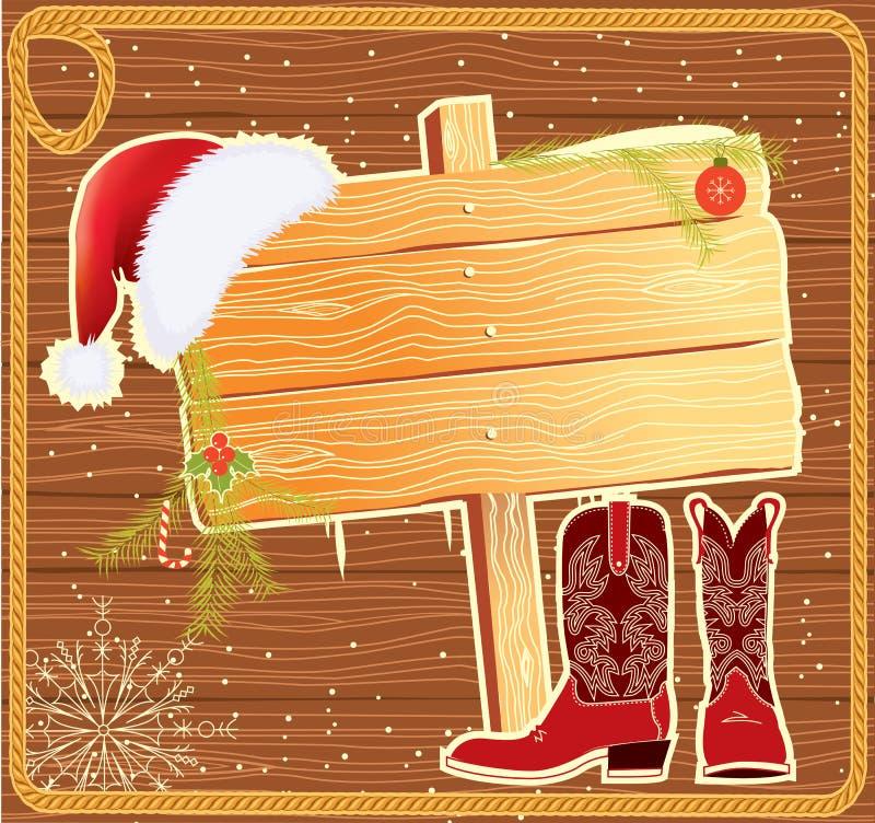 billboard Claus ramowy kapeluszowy Santa ilustracji