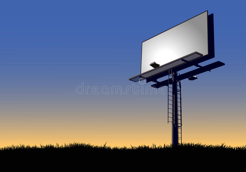 Billboard at Dawn vector illustration