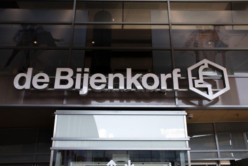 Billboard De Bijenkorf En Amstelveen, Países Bajos 2019 fotos de archivo libres de regalías