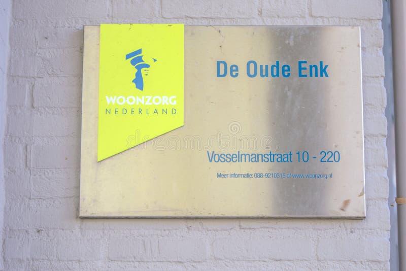 Billboard De Oude Enk Building At Apeldoorn The Netherlands 2018.  royalty free stock photos