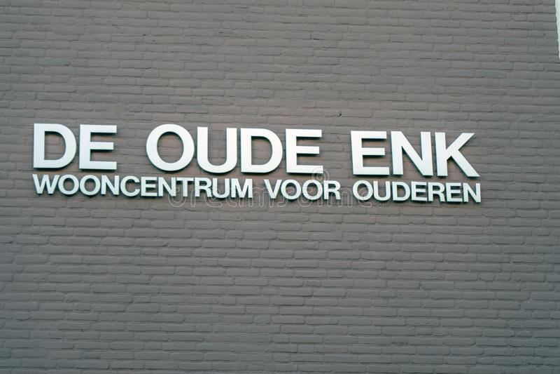Billboard De Oude Enk Building At Apeldoorn The Netherlands 2018.  royalty free stock photo