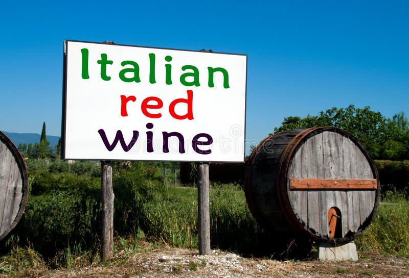 Billboard dla Włoskich wino sprzedaży fotografia stock